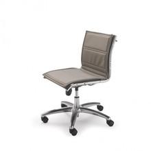 LUX LX802D to fotel pracowniczy, posiadający niskie oparcie. Nie posiada podłokietników. Podstawa to krzyżak, wykonany także z aluminium wyposażony...