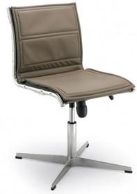 LUX LX804 to fotel konferencyjny, posiadający niskie oparcie. Posiada chromowany, aluminiowy stelaż. Podstawa to krzyżak, wykonany także z aluminium.<br...