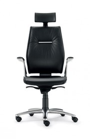 SEDNA SE701 to fotel gabinetowy. Wyposażony w wysokie oparcie z tapicerowanym zagłówkiem. Posiada wypełnienie DACRON. Fotel wyposażony w lakierowane,...