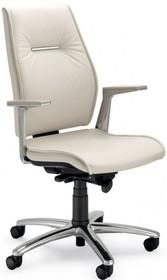 SEDNA SE702 to fotel gabinetowy. Wyposażony w wysokie oparcie. Posiada wypełnienie DACRON. Fotel wyposażony w lakierowane, aluminiowe podłokietniki z...