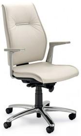 SEDNA SE702 to fotel gabinetowy. Wyposażony w wysokie oparcie. Posiada wypełnienie DACRON. Fotel nie jest wyposażony w podłokietniki. Pięcioramienna,...