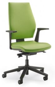 SEDNA S502 to fotel gabinetowy. Wyposażony w wysokie oparcie. Fotel posiada czarne, nylonowe podłokietniki. Podstawa jest pięcioramienna, w całości...