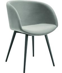 Fotel z podłokietnikiem wysokim (h 76 ) SONNY P-Q ze stelażem metalowym, malowanym na 3 kolory: biały, grafit lub piasek. Kształt nóżek podstawy...