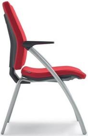 SEDNA S503 to fotel konferencyjny. Wyposażony w niskie oparcie. Fotel posiada cztery szare, lakierowane, metalowe nogi oraz stelaż, także z lakierowanego...