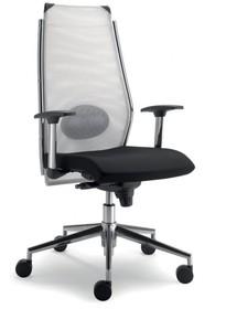 STEEL ST01 jest fotelem gabinetowym. Wyposażony jest w wysokie, siatkowane oparcie.<br />Fotel posiada podłokietniki stworzone z chromowanego metalu...