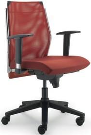 STEEL ST02 jest fotelem gabinetowym. Wyposażony jest w niskie, siatkowane oparcie. Fotel posiada podłokietniki stworzone z chromowanego metalu zmieszanego z...