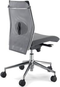 STEEL ST03 jest fotelem pracowniczym. Wyposażony jest w niskie, siatkowane oparcie. Fotel nie posiada podłokietników. Podstawa to pięcioramienny krzyżak...