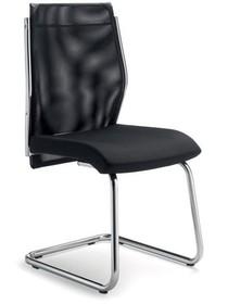 STEEL ST05 jest fotelem konferencyjny. Wyposażony jest w niskie, siatkowane oparcie. Fotel nie posiada podłokietników. Fotel posiada chromowany, metalowy...
