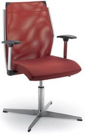 STEEL ST07 jest fotelem konferencyjny. Wyposażony jest w niskie, siatkowane oparcie.  Fotel posiada chromowany, metalowy stelaż. Jego podstawa to tzw....