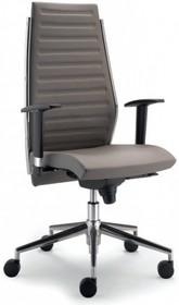 STEEL ST11R jest fotelem gabinetowym. Wyposażony jest w wysokie, tapicerowane oparcie, stalowe, chromowane podłokietniki z nylonowym wierzchem. Podstawa to...