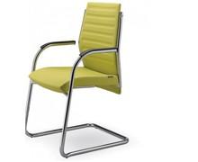 STEEL ST14 jest fotelem konferencyjnym. Wyposażony jest w niskie, tapicerowane oparcie.<br />Chromowany stelaż z podłokietnikami. Podstawa to płozy,...