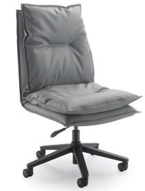URANIA UR152D to fotel pracowniczy. Wyposażony w niskie oparcie. Fotel nie posiada podłokietników. Podstawa to pięcioramienny aluminiowy krzyżak...