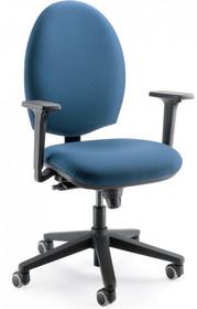 CLICK CK102 to fotel pracowniczy. Posiada niskie, tapicerowane oparcie oraz czarne, nylonowe podłokietniki.<br />Podstawa to pięcioramienny, czarny...