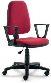 ELEGANCE EG152 jest fotelem gabinetowym. Fotel posiada wysokie, tapicerowane oparcie. Postawa to pięcioramienny krzyżak wykonany z czarnego nylonu, który...