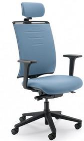 EVO EVO431SD jest fotelem gabinetowym. Fotel posiada wysokie, tapicerowane oparcie z zagłówkiem 2D. Postawa to pięcioramienny krzyżak wykonany z czarnego...