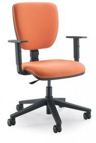 GAMMA GA004N jest fotelem pracowniczym. Fotel posiada niskie, tapicerowane oparcie. Rama fotela jest czarna. Postawa to pięcioramienny krzyżak wykonany z...