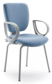GAMMA GA106G jest fotem konferencyjnym. Fotel posiada niskie, tapicerowane oparcie. Rama fotela jest szara (RAL 7040). Fotel jest czworonożny.  W...