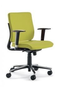 JOY JO013S to fotel pracowniczy. Posiada niskie, tapicerowane oparcie oraz wysokie, regulowane podłokietniki. Podstawa fotela to pięcioramienny krzyżak...