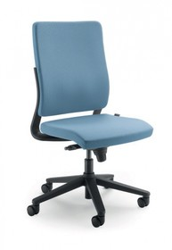 JOY JO001S to fotel gabinetowy. Posiada wysokie, tapicerowane oparcie. Fotel nie posiada podłokietników. Podstawa fotela to pięcioramienny krzyżak...
