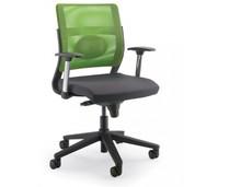 JOY JO112S to fotel pracowniczy. Posiada niskie, siatkowane oparcie. Fotel posiada mieszane (aluminium+nylon) podłokietniki.<br />Podstawa fotela to...