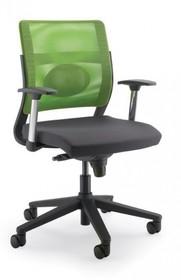 JOY JO112S to fotel pracowniczy. Posiada niskie, siatkowane oparcie. Fotel posiada mieszane (aluminium+nylon) podłokietniki. Podstawa fotela to...