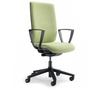 KIND KD013S jest fotelem gabinetowym. Fotel posiada wysokie, tapicerowane oparcie posiadające czarną, nylonową osłonę z tyłu. Podstawa fotela to...