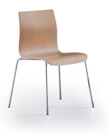 Klasyczne, stylowe krzesło JUMA pochodzi z najnowszego katalogu włoskiej firmy meblarskiej NATISA.<br />Metalowe nogi i drewniane siedzisko wraz z...
