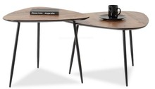 Zestaw 2 stolików kawowych ROSIN XL+S - orzech