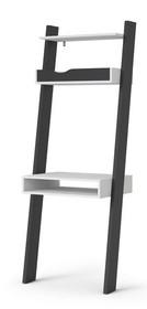 Biurko z półką OSLO - biały/czarny