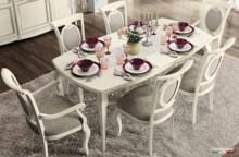 Rozkładany stół NOSTALGIA FANTASIA 200/105cm, został wykonany z jesionu i wybarwiany na kolor biały z efektem mebla postarzanego,lub...