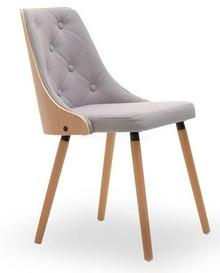 Nowoczesne krzesło pikowane MAGNUM szary - buk