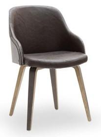 Designerskie krzesło z giętego drewna ALMOND dąb palony-vintage