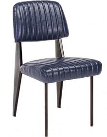 Krzesło bez podłokietników w kolorze granatowym jest meblem pochodzącym z najnowszego katalogu Bizzotto.<br />Metalowa konstrukcja pokryta...