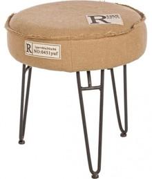 Nowoczesny, wyjątkowy taboret z siedziskiem w kolorze brązowym.<br /><br />Rama krzesła została stworzona z płyty MDF, natomiast...