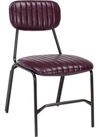 Krzesło bez podłokietników w kolorze bordowym jest meblem pochodzącym z najnowszego katalogu Bizzotto.<br />Metalowa konstrukcja pokryta...