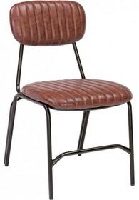Krzesło bez podłokietników w kolorze ciemnopomarańczowym jest meblem pochodzącym z najnowszego katalogu Bizzotto.<br />Metalowa konstrukcja...