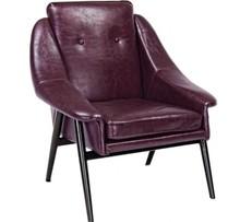 Fotel MAG - bordowy