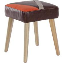 Patchworkowy tapicerowany taboret pochodzący z najnowszego katalogu Bizzotto.<br />Struktura z litego drewna i sklejki, nogi z drewna topolowego....