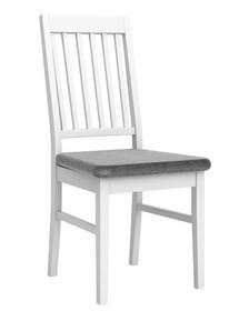Krzesło PARIS - biały/szary