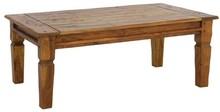 Prostokątna, drewniana ława.<br />Meble z tej kolekcji wykonane zostały z indyjskiego drewna akacji, rustykalne i postarzane, całość posiada...