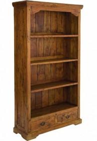 Drewniany regał wykonany w stylu modern country.<br />Kredens posiada cztery półki oraz dwie szuflady.<br /><br />Meble...