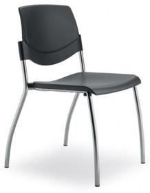 MULTY ML001NP to krzesło konferencyjne z czarną ramą, nie posiadające podłokietników. Czteronożne krzesło z czarnym, szarym lub białym siedzeniem i...