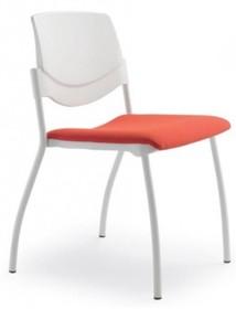 MULTY ML011NC to krzesło konferencyjne z czarną ramą, nie posiadające podłokietników. Czteronożne krzesło z białym bądź szarym oparciem...