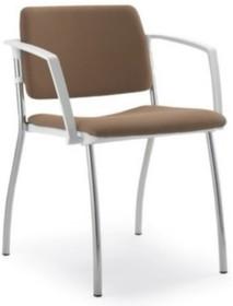 MULTY ML021NC to krzesło konferencyjne z czarną ramą, nie posiadające podłokietników. Czteronożne krzesło z tylną osłoną oparcia wykonaną z...