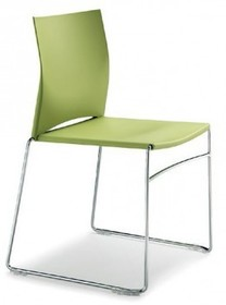 WEB WE100 to krzesło konferencyjne. Chromowana rama zakończona podstawą typu płozy. Oparcie i siedzenie wykonane z kolorowego PP. Możliwość łączenia...