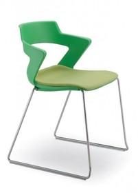 ZENITH ZN151 jest krzesłem konferencyjnym. Posiada stalową ramę zakończoną podstawą w typie płozy, dostępną w dwóch kolorach- chromowanym...