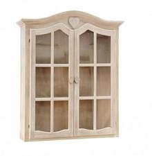 Stylowa szafka AME posiada dwoje przeszklonych drzwi, za którymi znajdują się trzy półki.<br />Szafka nie nadaje się do powieszenia. Na...
