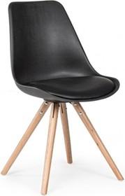 Stylowe krzesło TRE w kolorze czarnym pochodzące z najnowszego katalogu Bizzotto.<br />Siedzisko oraz oparcie wykonane z polipropylenu, poduszka...