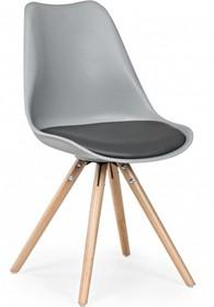Stylowe krzesło TRE w kolorze szarym pochodzące z najnowszego katalogu Bizzotto.<br />Siedzisko oraz oparcie wykonane z polipropylenu, poduszka pokryta...