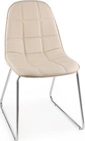 Pikowane krzesło JOL w kolorze beżowym pochodzące z najnowszego katalogu Bizzotto.<br />Krzesło posiada metalowy, chromowany stelaż zakończony...